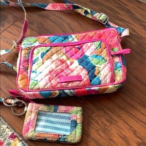 Lanyard with mini wallet and purse